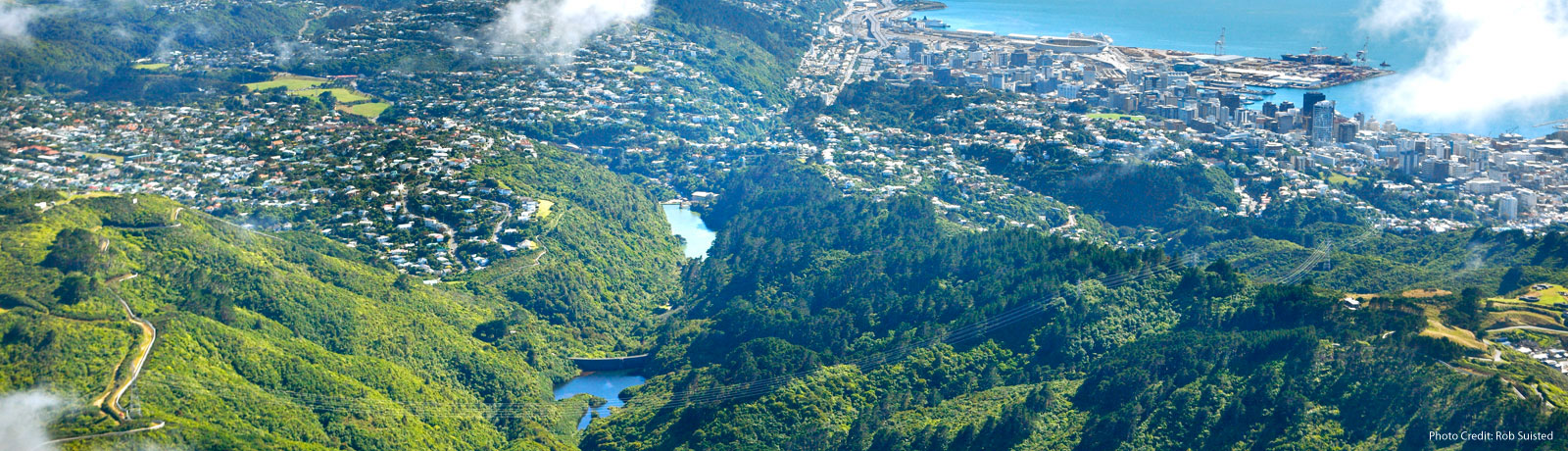 Aerial View of ZEALANDIA and Wellington
